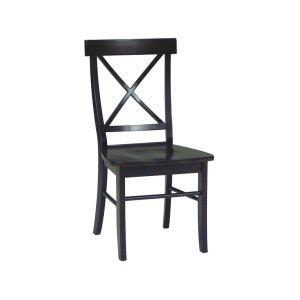 JOHN THOMAS FURNITUREX-Back Chair inAlmond & Espresso