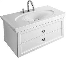 Washbasin Angular - White Alpin La Rose CeramicPlus