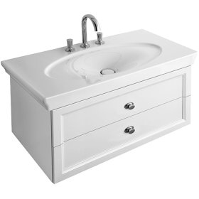 Washbasin Angular - White Alpin La Rose CeramicPlus