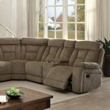 Maybell Sectional W/ 2 Consoles, Mocha