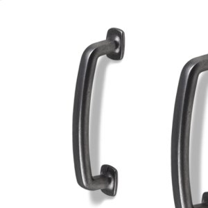 """4-5/8"""" Overall Length Forged Look Flat Bottom Cabinet Pull. Holes are 96 mm center-to-center."""