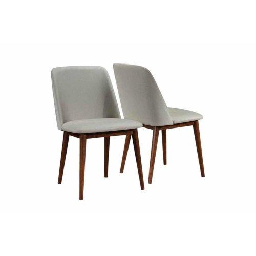 Barett Modern Grey and Chestnut Dining Chair