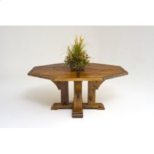 """Mustang Canyon Timber Frame Pedestal Table, Octagon and Round Top - (60"""" Octagon)"""