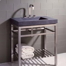 Slab Vanity - 31.5 Inch Slab Vanity 31.5 / Honed Black Granite