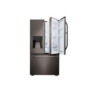 LG STUDIO 24 cu. ft. Smart wi-fi Enabled Door-in-Door(R) Counter-Depth Refrigerator - BLACK STAINLESS STEEL