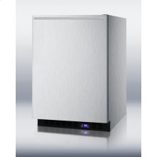 Frost-free Outdoor All-freezer In Complete Stainless Steel, With Digital Thermostat, LED Lighting, and Horizontal Handle; Built-in or Freestanding Use