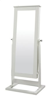 White Cheval Mirror Product Image