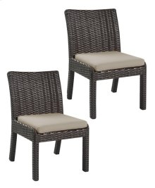 Emerald Home Metro II Armless Dining Chair Sunbrella Bark Brown Od1026-20-09