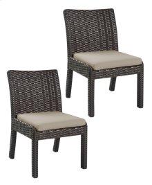 Emerald Home Metro II Armless Dining Chair Sunbrella Bark Brown Od1026-20-09