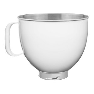 Kitchenaid5 Quart Tilt-Head Colorfast Finish Stainless Steel Bowl - White