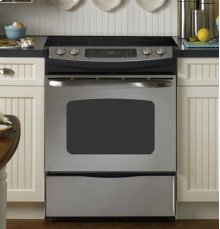 "GE® 30"" Slide-In CleanDesign Electric Range"