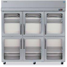 Refrigerator, Three Section Upright, Half Glass Door