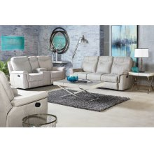 Manual Stone Console Loveseat