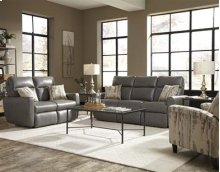 Double Reclining Loveseat with Power Headrest & 2 Pillows