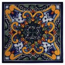 "4"" Zinnia Decorative Talavera Tiles Product Image"