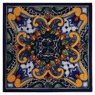 "4"" Zinnia Decorative Talavera Tiles Product Image"