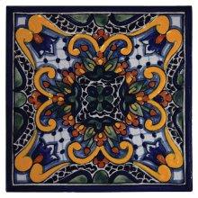 "4"" Zinnia Decorative Talavera Tiles"
