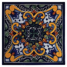 "4"" Zinnia Decorative Talavera Tiles"