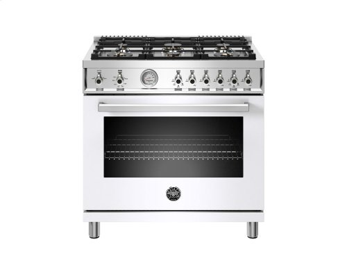 36 inch 6-Burner, Gas Oven White