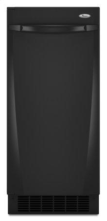 Black-on-Black Whirlpool® 50 lb. Ice Maker
