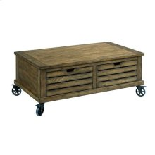 Elm Ridge Rectangular Storage Cocktail Table