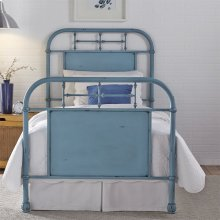 Twin Metal Bed - Blue