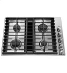 "30"" 4 Burner Gas Downdraft Cooktop - Stainless Steel Product Image"