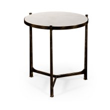 Large Scagliola & Bronze Round Side Table