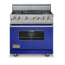 "36"" Custom Sealed Burner Dual Fuel Range, Natural Gas, Brass Accent"