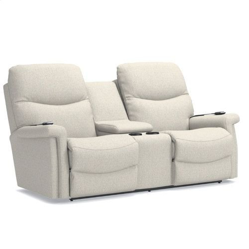 Baylor Power Wall Reclining Loveseat w/ Console, Headrest & Lumbar