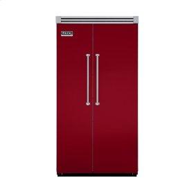 "Apple Red 42"" Quiet Cool™ Side-by-Side Refrigerator/Freezer - VISB Tru-Flush™ (42"" wide)"