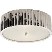 Visual Comfort AH4005PN-FG Alexa Hampton Frank 3 Light 15 inch Polished Nickel Flush Mount Ceiling Light