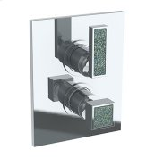 """Wall Mounted Thermostatic Shower Trim With Built-in Control, 6 1/4"""" X 8"""""""