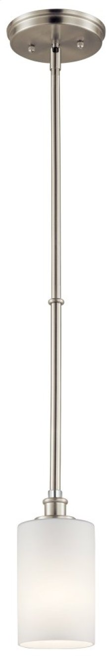 Joelson 1 Light Mini Pendant Brushed Nickel