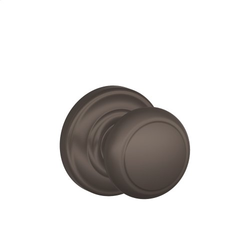 Andover Knob with Andover trim Non-turning Lock - Oil Rubbed Bronze