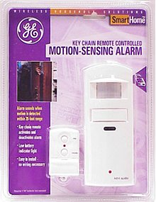 GE SmartHome Motion-Sensing Alarm with Key Chain Remote Control