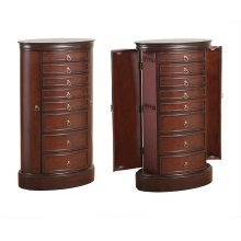 Oval Jewelry Armoire