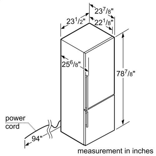 800 Series Freestanding Bottom Freezer Refrigerator Inox-easyclean B11CB81SSS
