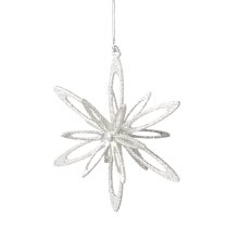 Silver Looped Snowflake Ornament.
