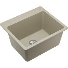 """Elkay Quartz Classic 25"""" x 22"""" x 11-13/16"""", Drop-in Laundry Sink with Perfect Drain, Bisque"""