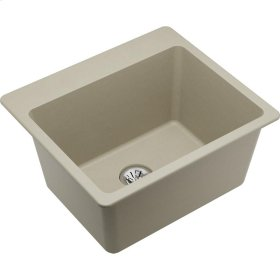 "Elkay Quartz Classic 25"" x 22"" x 11-13/16"", Drop-in Laundry Sink with Perfect Drain, Bisque"