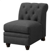 Roy Traditional Grey Armless Chair Product Image