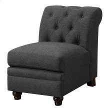 Roy Traditional Grey Armless Chair