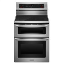 KitchenAid® 30-Inch 5-Element Electric Freestanding Double Oven Range, Architect® Series II - Stainless Steel