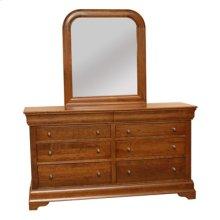 Bordeaux Dresser & Sleigh Rounded Mirror
