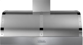 Hood DECO 48'' Stainless steel, Chrome 1 power blower, electronic buttons control, baffle filters
