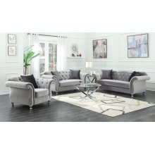 Frostine Traditional Silver Loveseat