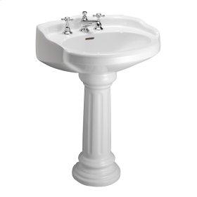 Victoria Pedestal Lavatory - White - White