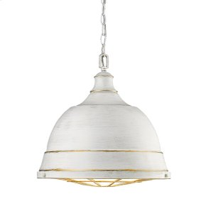 Bartlett Large Pendant in French White