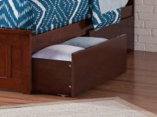 Two Urban Bed Drawers Queen/King in Walnut